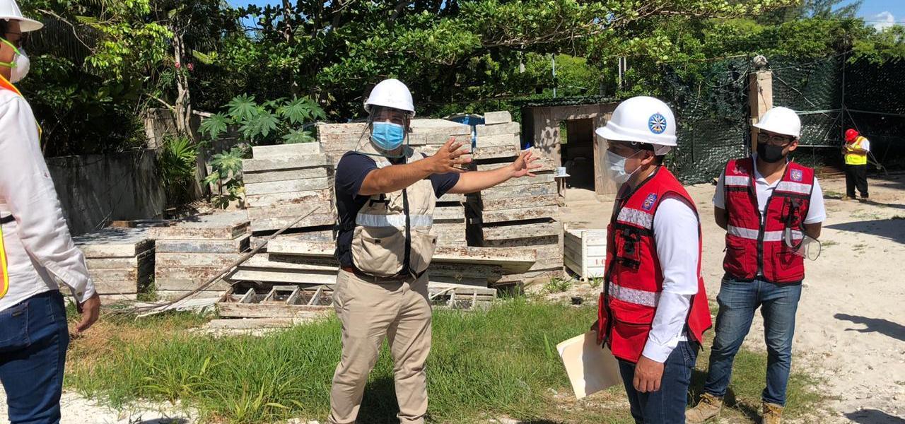 DESARROLLO URBANO DE ISLA MUJERES CONTINÚA SUPERVISANDO QUE OBRAS DE CONSTRUCCIÓN CUENTEN CON MEDIDAS SANITARIAS