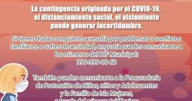 FOMENTA MUNICIPIO DE ISLA MUJERES UNA SANA CONVIVENCIA FAMILIAR DURANTE AISLAMIENTO SOCIAL POR COVID-19