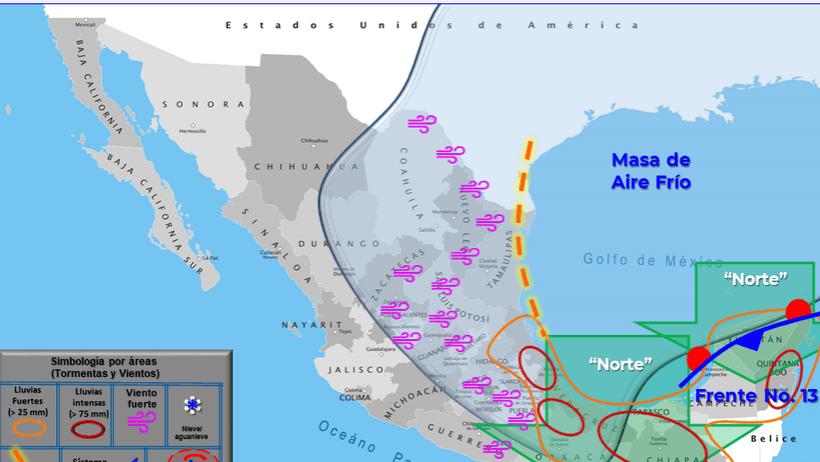 Clima hoy para Cancún y Quintana Roo 18 de noviembre de 2020