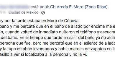 Joven denuncia que hombre la grabó en baños de El Moro