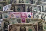 Peso gana 0.08%; dólar interbancario cotiza en $23.85 por unidad