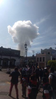 Reportan fuerte explosión de un polvorín en Zumpango (VIDEO)