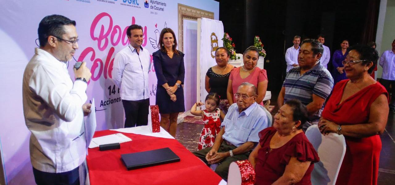 """Formalizar el matrimonio, la mejor manera de enaltecer y proteger a la familia: Pedro Joaquín en las """"Bodas Colectivas"""""""