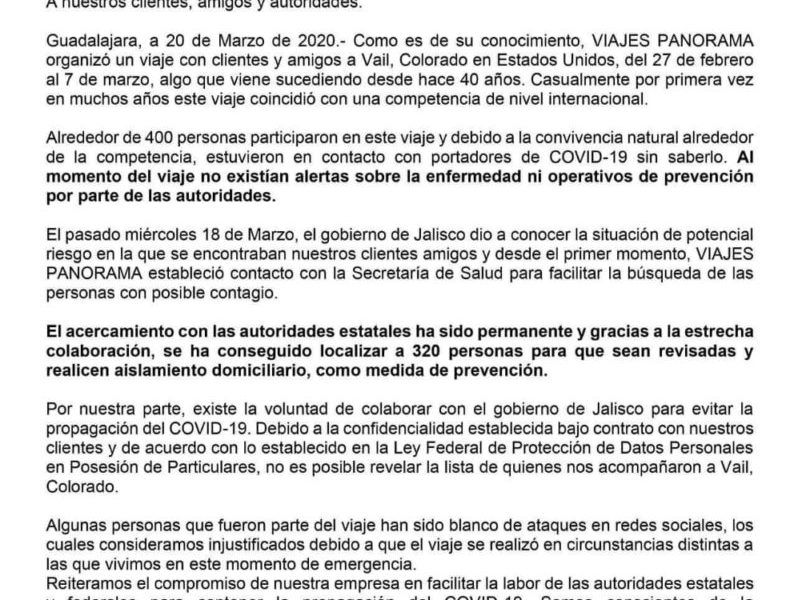 Contactan en Jalisco con 320 de 400 viajeros que estuvieron en Vail