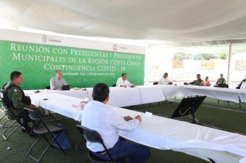 Astudillo da a conocer a alcaldes de Guerrero medidas ante coronavirus