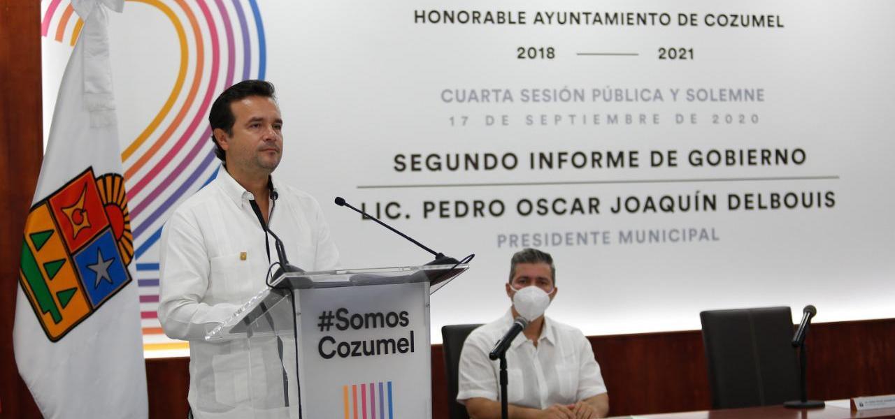 Con la tenacidad de su gente y sin bajar la guardia ante el Covid-19, Cozumel sigue de pie, es un municipio más seguro, con desarrollo social, sustentabilidad, modernidad y prosperidad: Pedro Joaquín