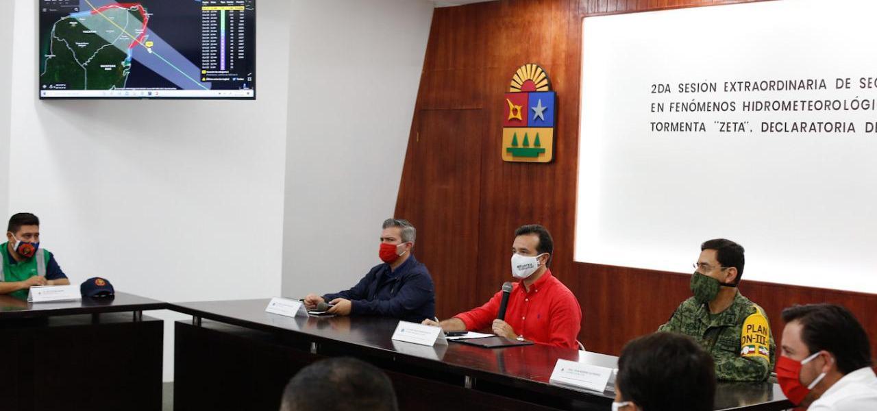 """Cozumel se encuentra listo para afrontar el paso de la Tormenta Tropical """"Zeta"""": Pedro Joaquín"""