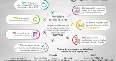 EL MUNICIPIO DE ISLA MUJERES ABRIRÁ LAS CAJAS MUNICIPALES EN HORARIO NORMAL A PARTIR DEL 01 JUNIO