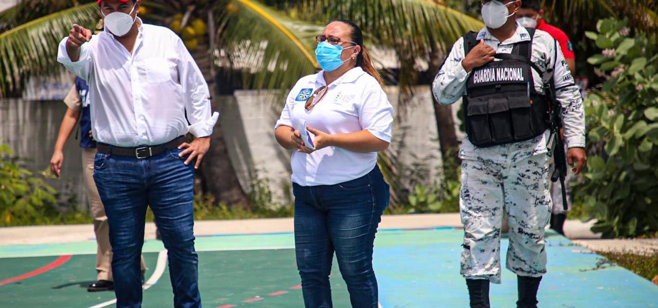 SUPERVISAN EN ISLA MUJERES, REFUGIOS TEMPORALES EN CASO DE FENÓMENOS HIDROMETEOROLÓGICOS