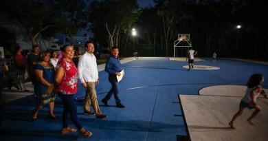 Avanza gobierno de Pedro Joaquín con la modernización de la red de luminarias en Cozumel