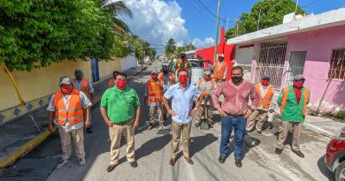 Ante la temporada de lluvias, supervisa Pedro Joaquín trabajos de mantenimiento y limpieza de drenaje pluvial en Cozumel