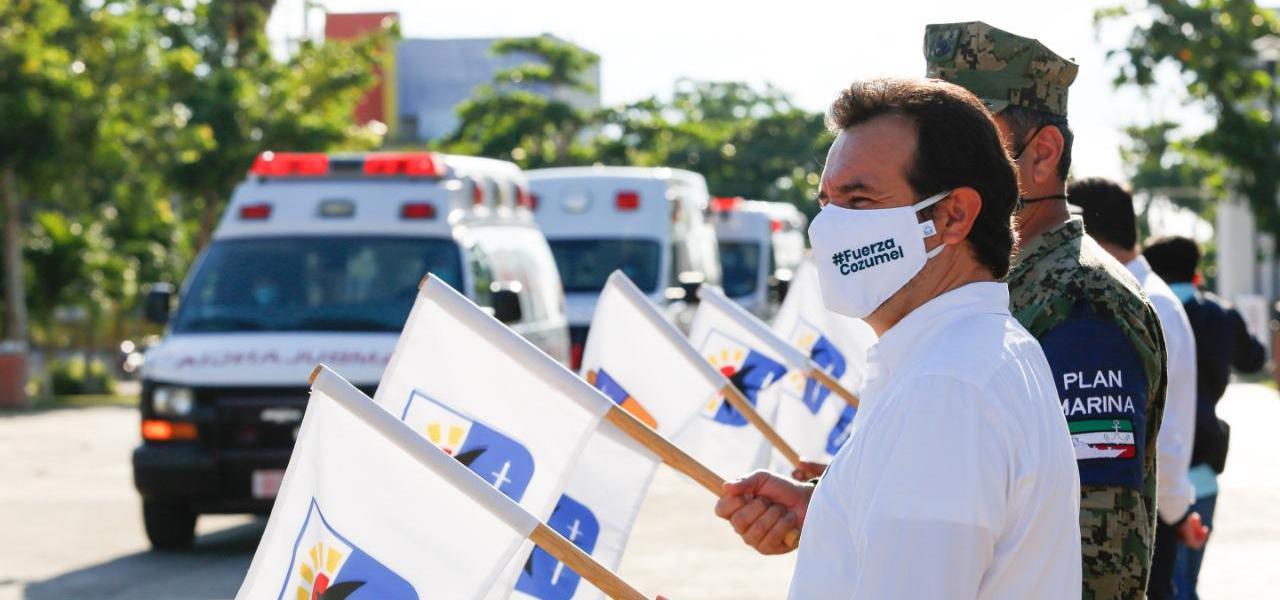 """Pone en marcha Pedro Joaquín el operativo """"Guadalupe-Reyes 2020-2021"""" en Cozumel"""