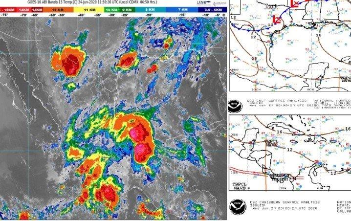 Clima Cancún, Playa del Carmen, Chetumal y Quintana Roo hoy 24 de Junio 2020