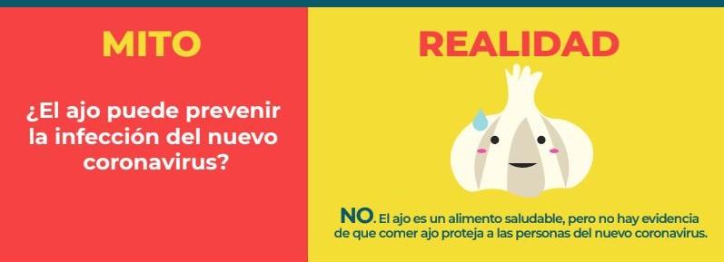 Comer ajo y otros MITOS para no contraer coronavirus