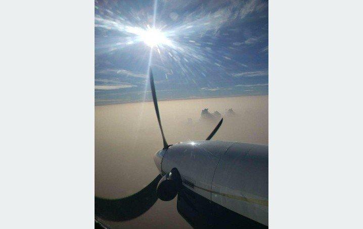 Captan en pleno vuelo el polvo del Sahara que cubrió Cancún