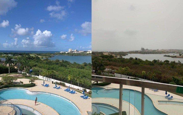 Llega a Cancún Polvo de Sahara, así se ve la zona hotelera