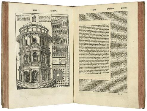 10 книг по архитектуре Витрувия издание 1521 года