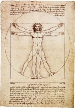 витрувианский человек в изображении Леонардо да Винчи
