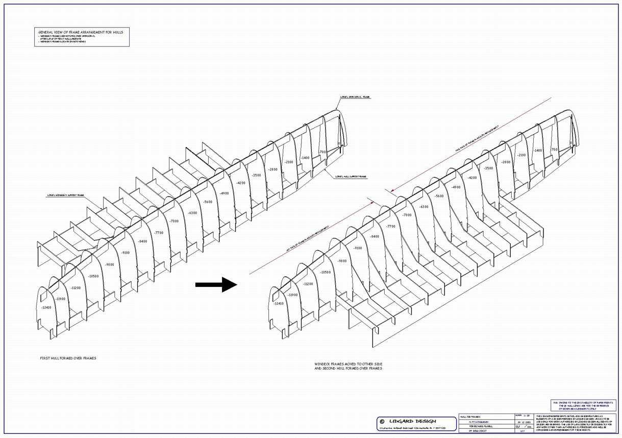 Lidgard Yacht Design 40 Ft Catamaran Multihull Study Plan