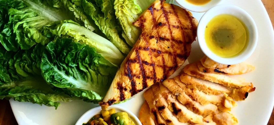 Mango season has begun – Grilled mango chicken and sweet corn salsa