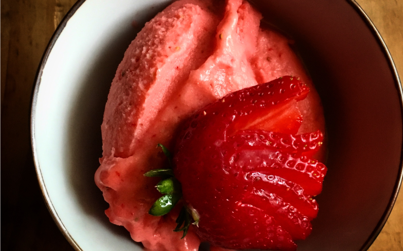 Memories of France & a strawberry ice cream recipe