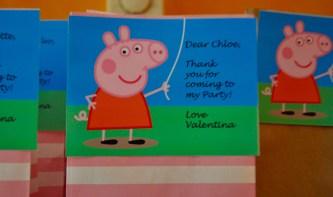 peppa pig card party bag