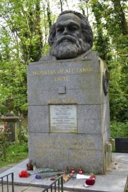 Sepultura actual de Karl Marx