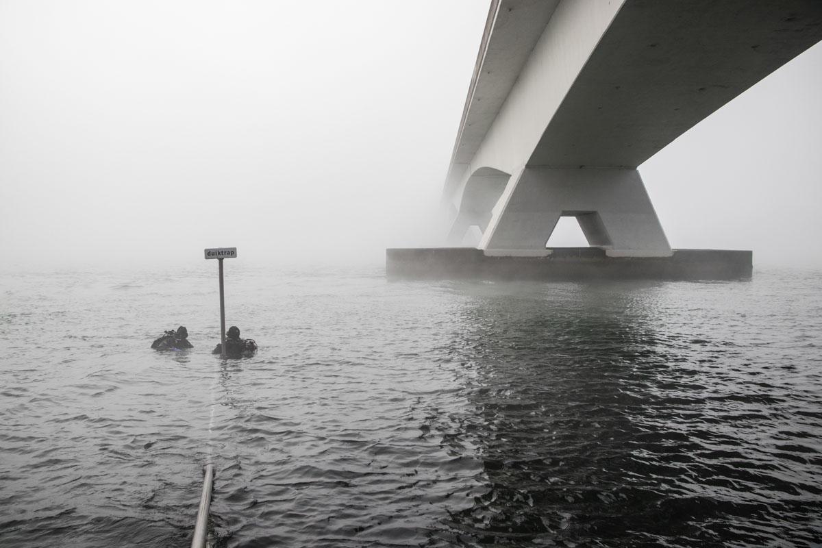 duiken zeelandbrug zeeland fotografie