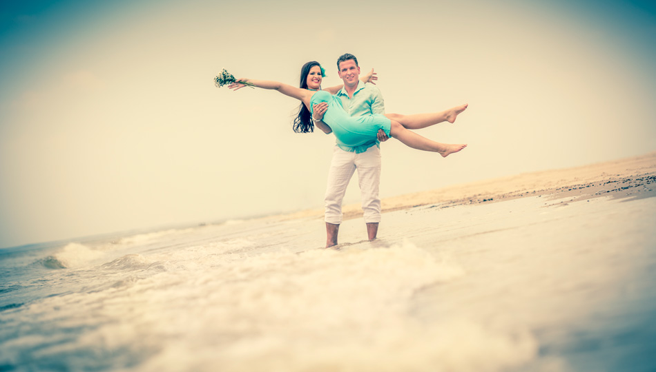 Engagement-Shooting am Meer