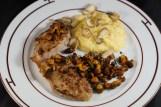 Kalbsschnitzel mit Eierschwämmen