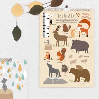 Wandkalender, besondere Papetiere