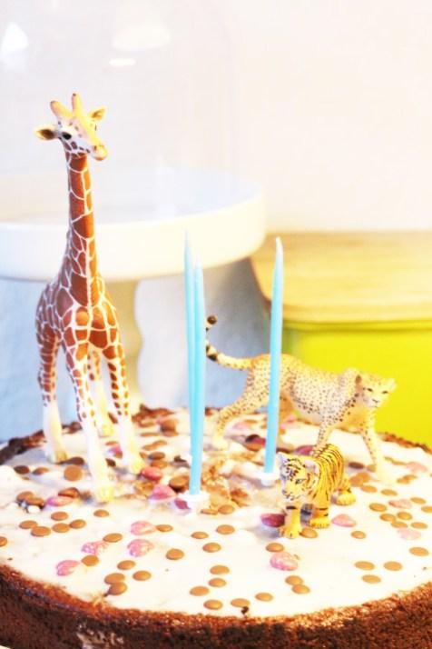 Kuchen Geburtstag, Kinderkucchen, Motto wilde Tiere Deko,