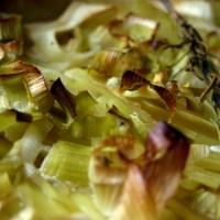 Veganes Kartoffelgratin mit Lauch