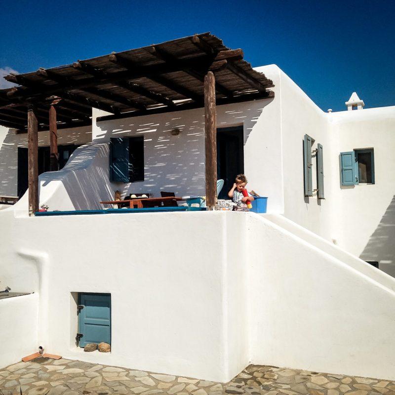 Außenansicht Maisonette-Apartment Mykonos