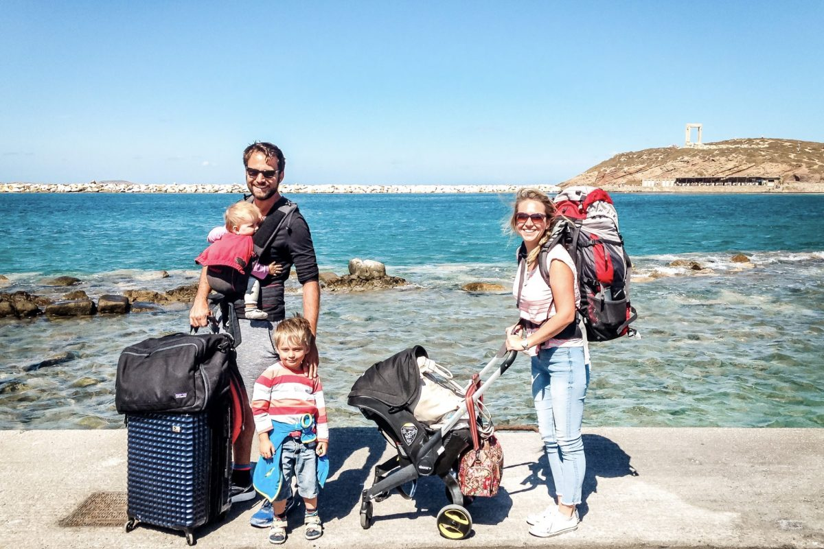 Island hopping Greece with children