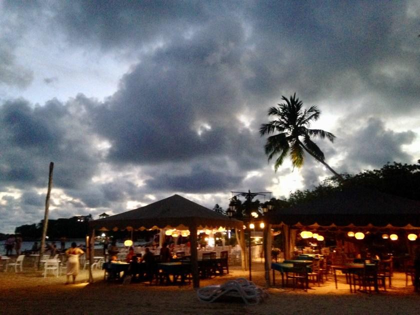 Beach of Unawatuna in the evening