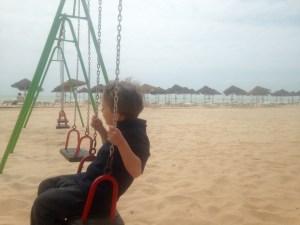 Ankunft am Strand von Luz