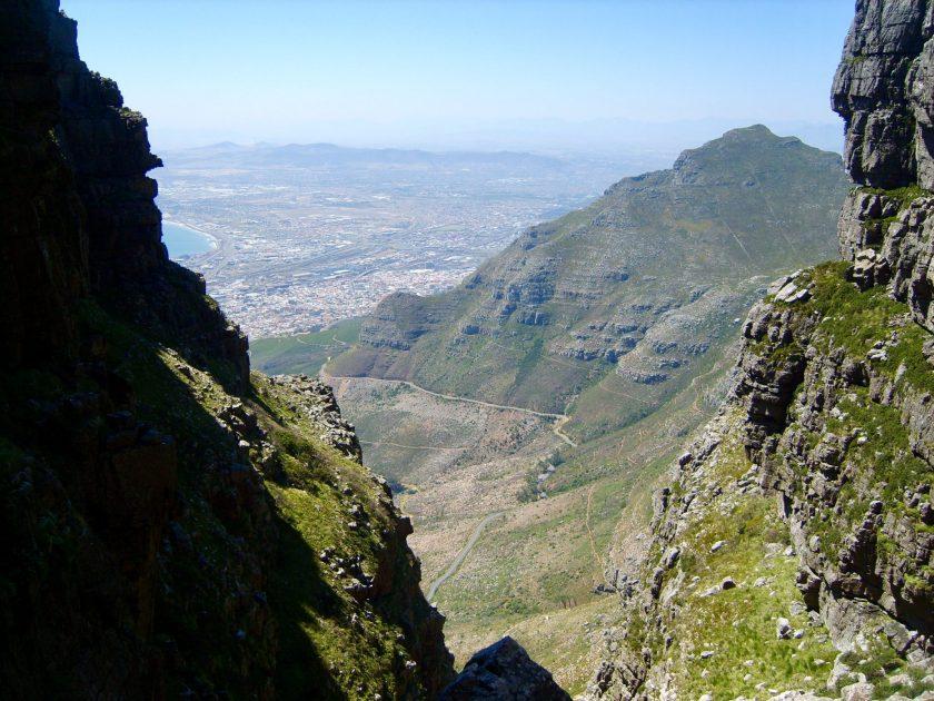Steiler Aufstieg auf den Tafelberg