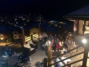Barbecue on the terrace in the luxury chalet