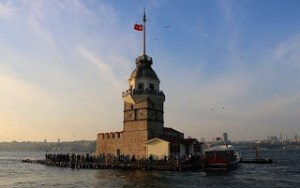 Girl tower and Bosphorus
