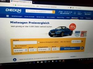 Mietwagenvergleich auf Check24.de