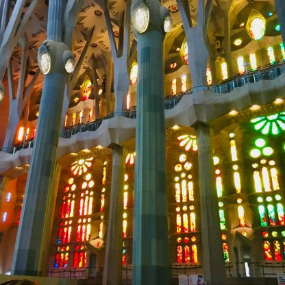 Magic light play in the Sagrada Familia
