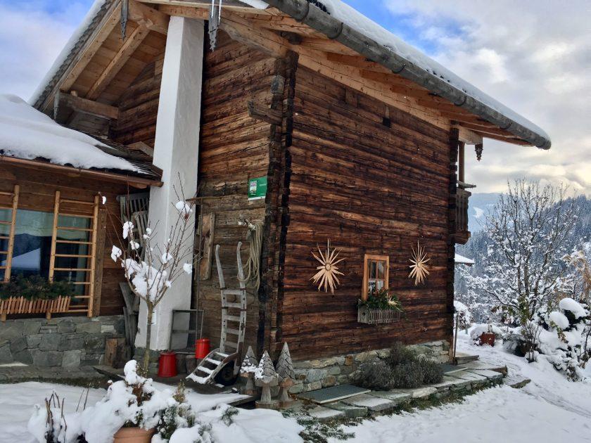 Ausblick Berg-Chalet