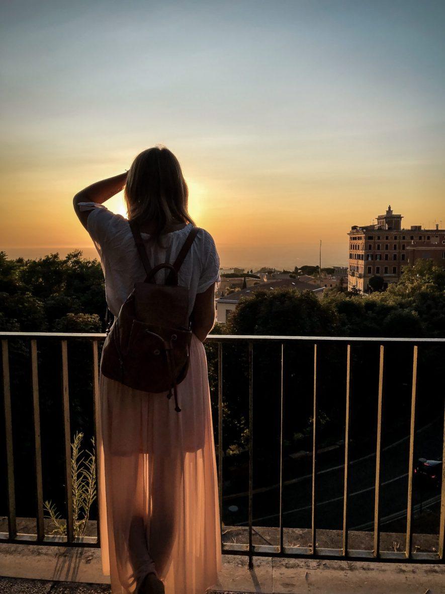 Sonnenuntergang in Frascati