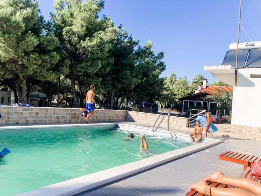 Pool im Camp Krka