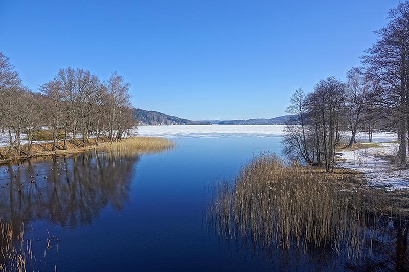 Schwedische Seenplatte im Winter
