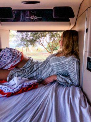 Bett im Camper