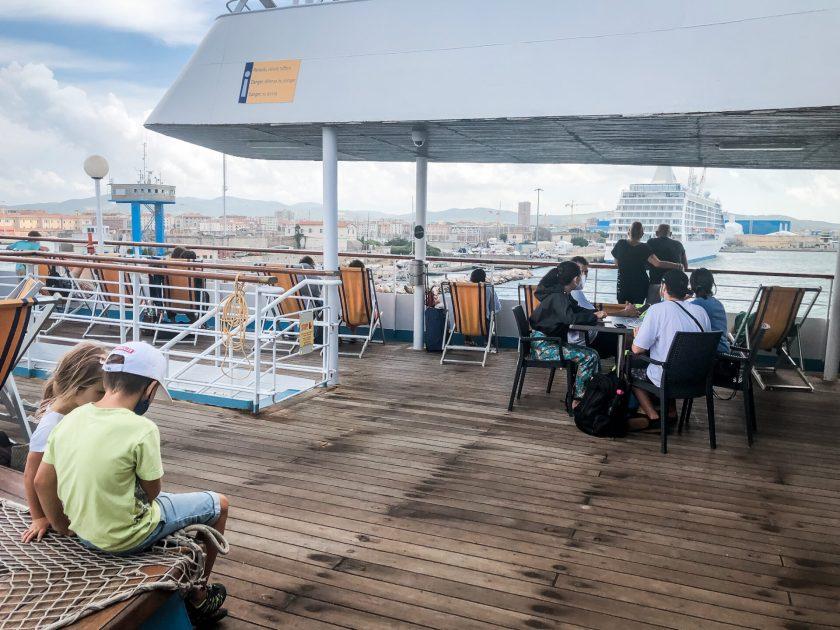 An Deck von Corsica Ferries