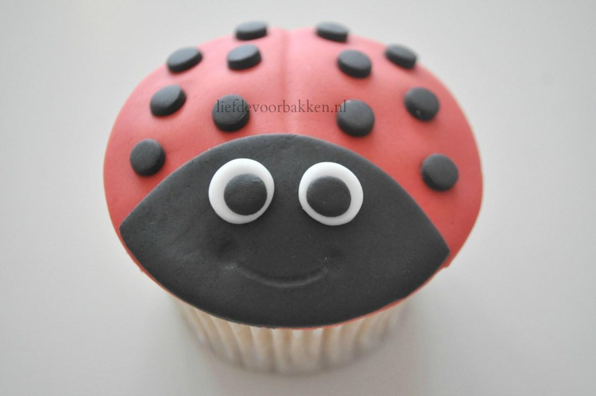 Lieveheersbeestjes cupcakeLieveheersbeestjes cupcake