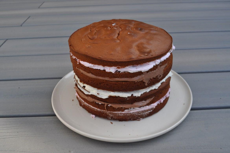 Frambozen laagjes taart